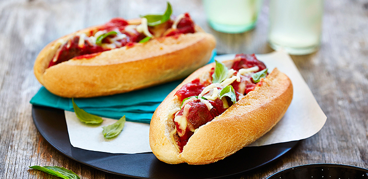 Classic meatball subs