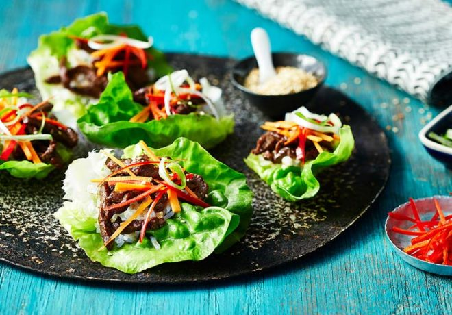 Cleaver's organic Korean beef cups recipe