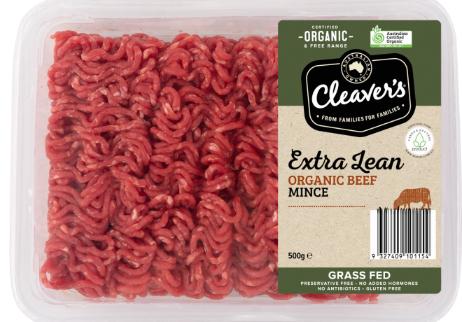 Cleaver's Organic Beef Mince Extra Lean