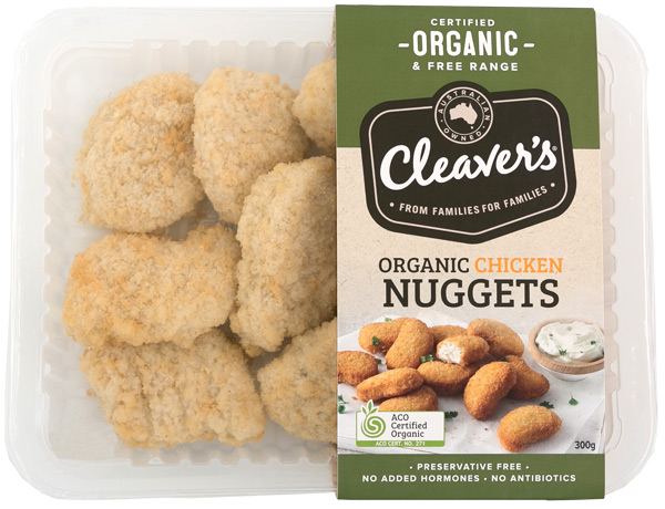 Cleaver's Free Range Organic Chicken Nugget