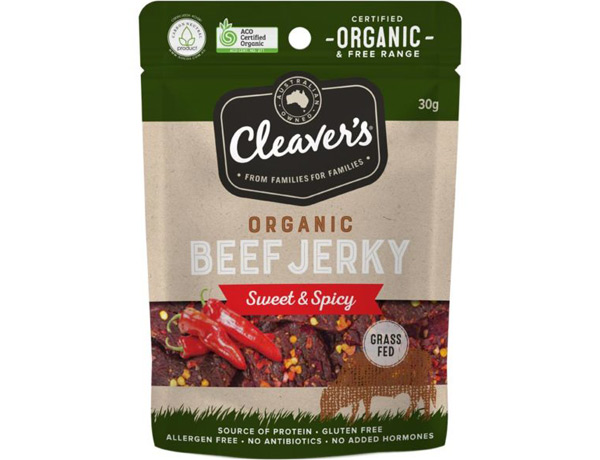 Cleaver's Organic Beef Jerky Sweet & Spicy