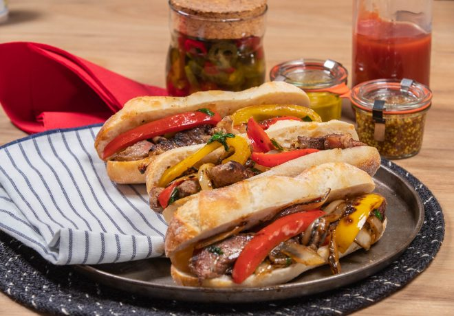 Cleaver's beef Philly cheese steak rolls recipe